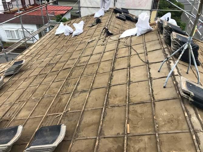 瓦撤去した屋根