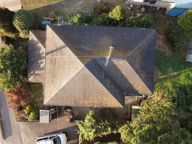 ドローンを使って屋根点検