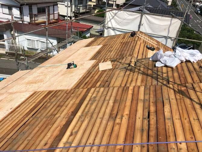 屋根の下地工事