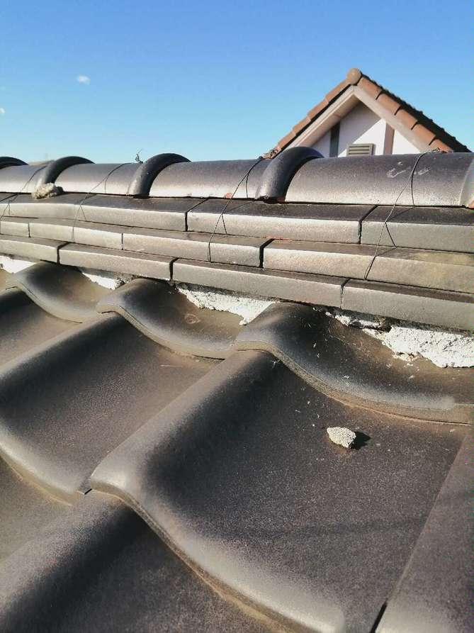 大屋根の漆喰