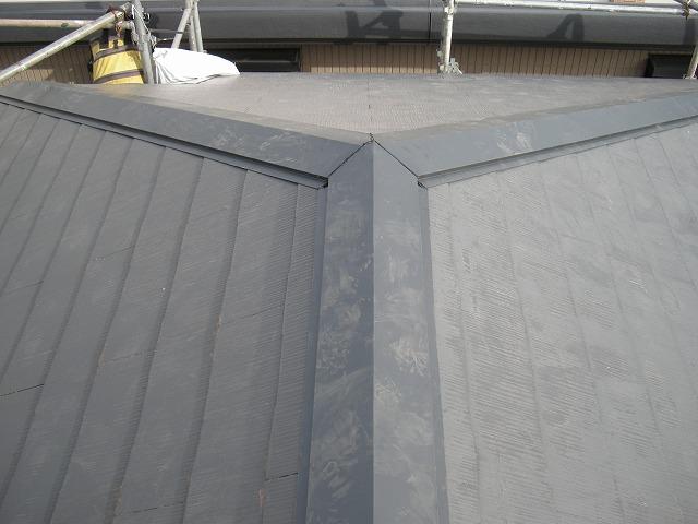 【取手市】金属屋根の棟交換